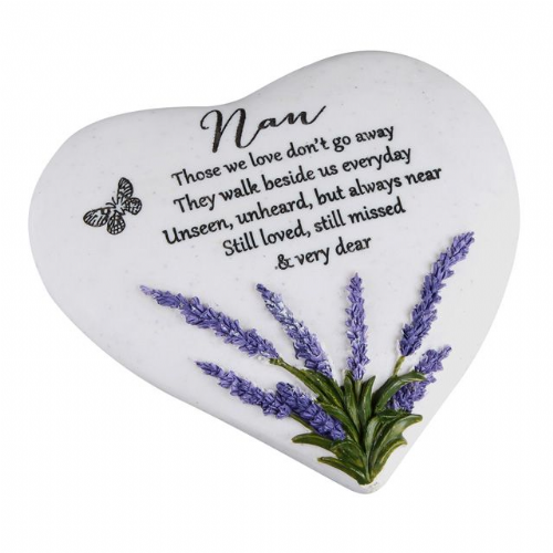 Memorial Thoughts of You Heart Lavender Nan
